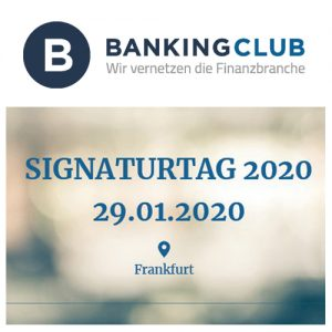 secrypt beim BANKINGCLUB Signaturtag 2020 in Frankfurt